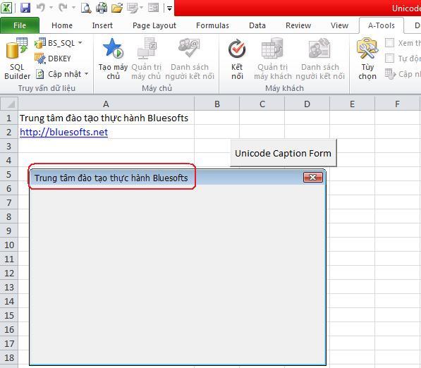 Tạo chữ unicode của caption trên Userform   Giải Pháp Excel